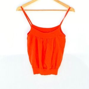Cotton by Autumn Cashmere Tank Top Orange Small